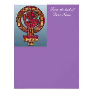 women's rights Raised Fist Thunder_Cove any color Letterhead