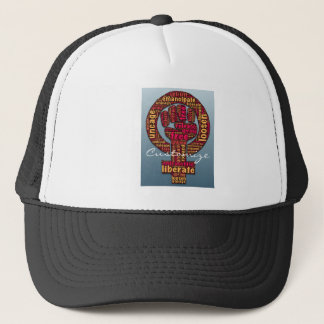women's rights Raised Fist Thunder_Cove any color Trucker Hat