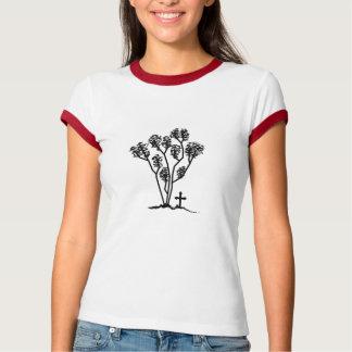 Women's Ringer Shirt - Black & White Logo