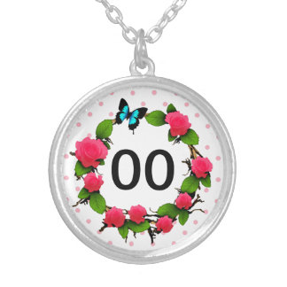 Womens Rose 91st 92nd 95th 97th 98th 99th Birthday Silver Plated Necklace