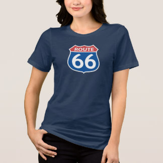 Women's ROUTE 66 RED, BLUE SIGN T-Shirt