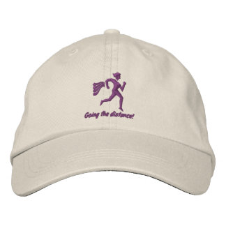 "Womens Running ""Going the distance!"" Embroidered Hats"