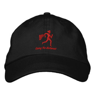 """Womens Running """"Going the distance!"""" Embroidered Baseball Cap"""