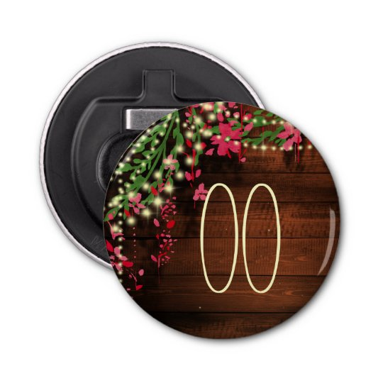 Women's Rustic Country Garden Party Button Bottle Opener