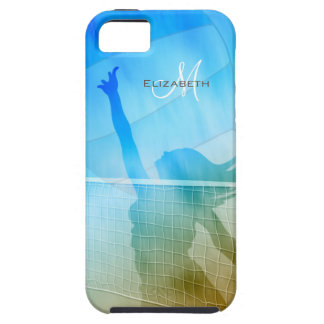 women's sand surf sky volleyball at the beach iPhone 5 cover