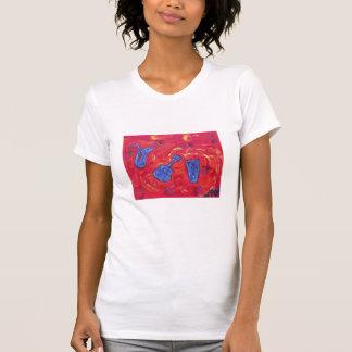 Women's Scoop Neck Tee Shirt-red hot -n- jazz