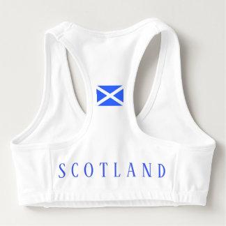 Womens Scotland Flag Sports Bra