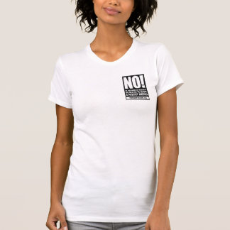 Women's shirt with refuse fascism sticker image