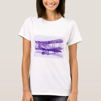 Women's simple t-shirt with Airplane drawing