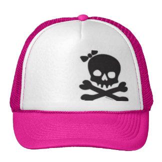 Womens Skull and Crossbones Trucker Hat
