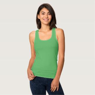 Women's Slim Fit Envy Green Racerback Tank Top