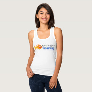 Women's Slim Fit Racerback Tank Top, White