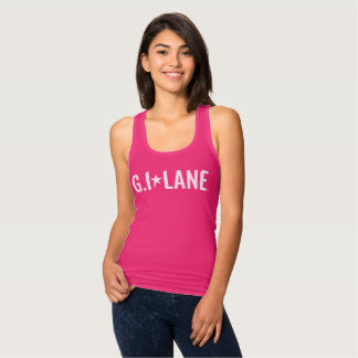 Women's Slim Fit Racerback Tank Top - Wordmark