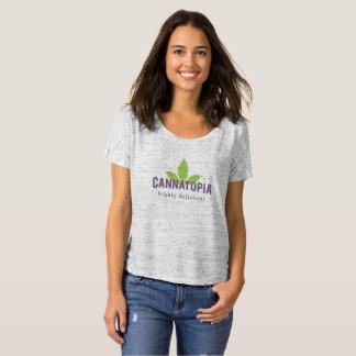Women's Slouchy Cannatopia Logo Tee