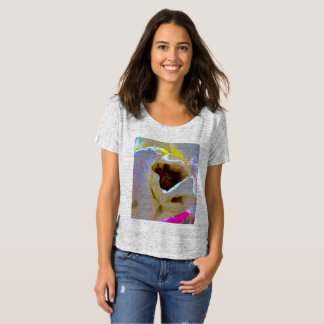 women's slouchy tee with unique floral design