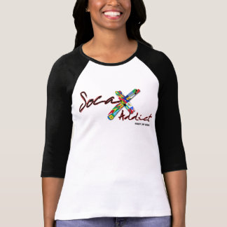 Women's Soca Addict Two-tone 3/4 Sleeve T-Shirt