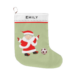 Women's Soccer Large Christmas Stocking