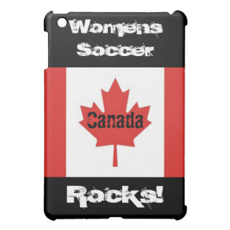 Womens Soccer Rocks!-Canadian Flag iPad Mini Covers