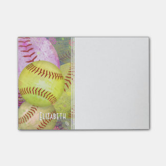 Women's Softball Post-it Notes