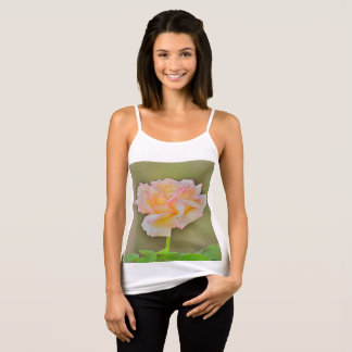 "Women's Spaghetti Strap Tank Top ""Beauty Rose"""
