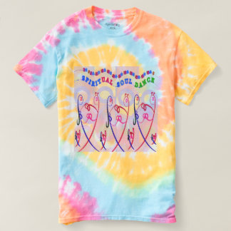 Women's Spiral Tie-Dye  SPIRITUAL SOUL DANCE FUNNY T-shirt