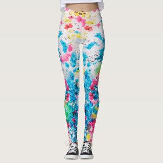 women's splatter leggings