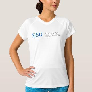 Women's Sport T-shirt - blue/gray logo