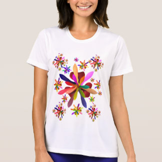 Women's Sport-T-Shirt with Stylized Flower 1 T-Shirt