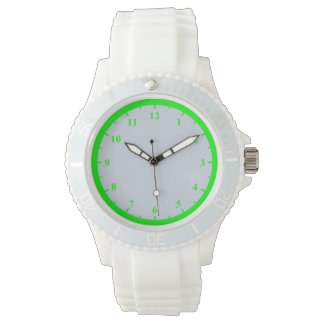 Women's Sporty White Silicon Watch
