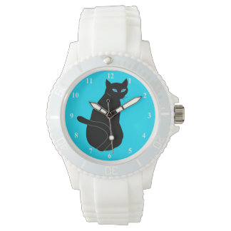 Women's Sporty White Silicon Watch - cat