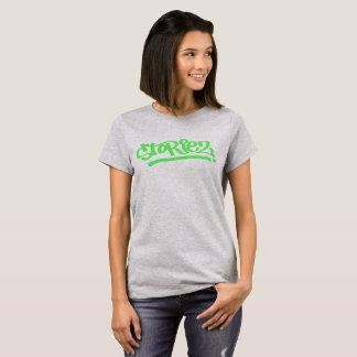 Women's Storiez T-shirt (lime green logo)