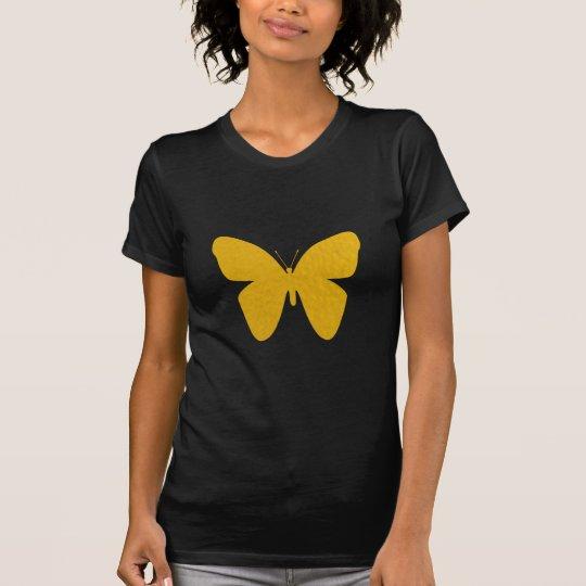 Women's Stylish Gold Butterfly T-Shirt