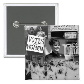 Women's Suffrage Sarah Palin Button
