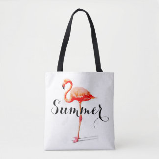 Women's Summer Flamingo Tote Bag