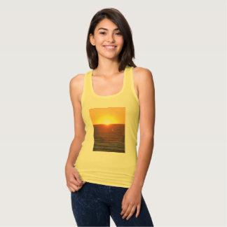 Women's sunset print tank top