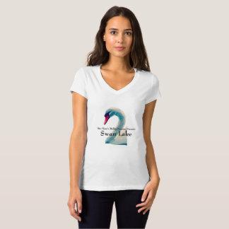 Womens Swan Lake V-Neck Shirt