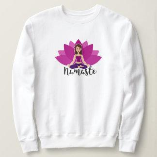 Women's Sweatshirt with namaste Yoga Girl