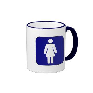 Womens Symbol Ringer Coffee Mug