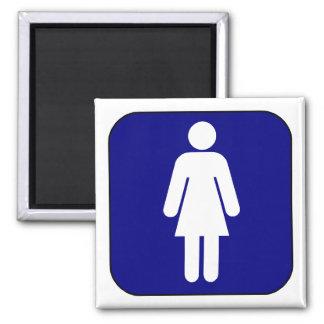 Womens Symbol Square Magnet
