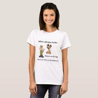 Women's t-shirt blame the dog
