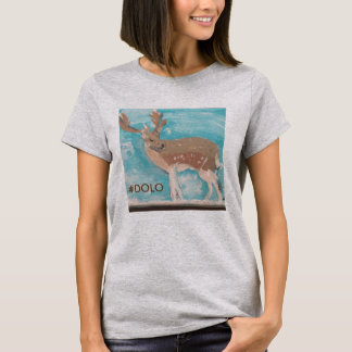 Women's T-shirt #DOLO (Deer Only Live Once)