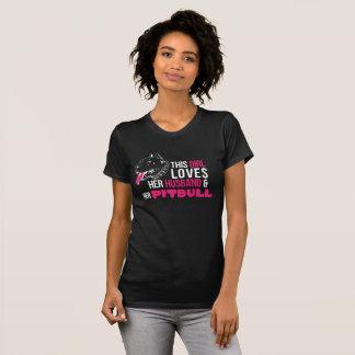 Womens T-shirt husband and pitbull