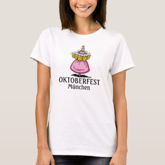 Women's T-Shirt Oktoberfest Waitress Beer