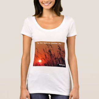 Women's T-Shirt Orange Montana Sunset