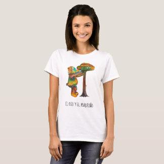 Womens t-shirt white teddy bear design madrid