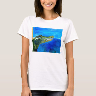 Women's T shirt with Alligator painting