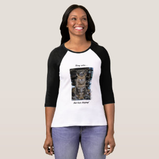 Women's T-shirt with Calm Cinque Terre Cat