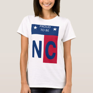 Women's t-shirt with Proud To Be NC Design