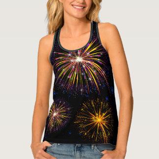 Womens Tank Top-Fireworks
