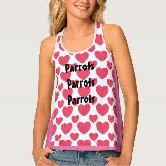 Womens Tank Top for Parrot Lovers